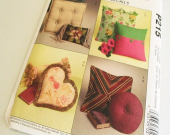 Pillows or pillow covers; square cover, circular pillow, Rectangular cover, heart pillow, Diamante Pillow -Sewing pattern Trading Spaces