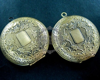 wholesale 5pcs vintage brass bronze locket pendant,photolocket 1111013