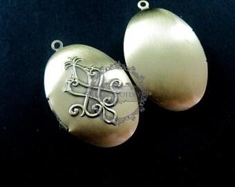 5pcs 25x38MM vintage love flower brass bronze oval locket,locket pendant,photo locket 1121030
