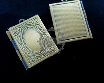 wholesale 5pcs vintage brass bronze locket pendant,photolocket1191003