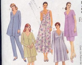 McCall's 2489 Maternity Dresses Skirt Pants Elegant Classy Looking Sizes 6 - 8 - 10
