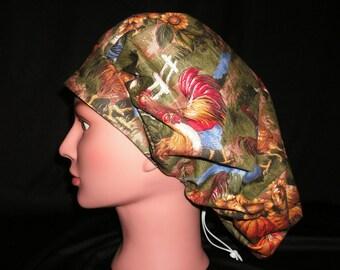 chicken bouffant scrub hat