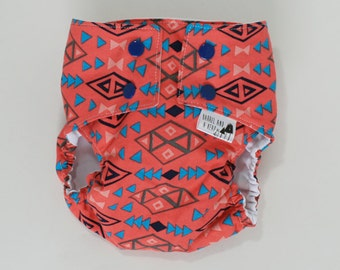 Pink Tribal PUL Water Resistant Cloth Diaper Cover Available in Medium and Large