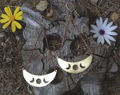 Moon Circle Earrings
