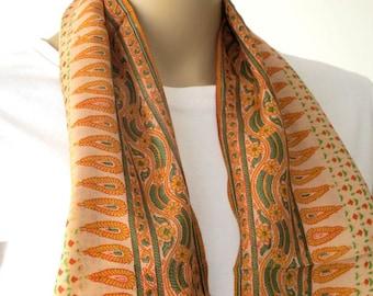 Handprinted Silk scarf