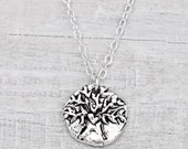 Walk Boldly, Grow Wise Necklace -Inspirational Jewelry - Tree of Life Necklace- N429