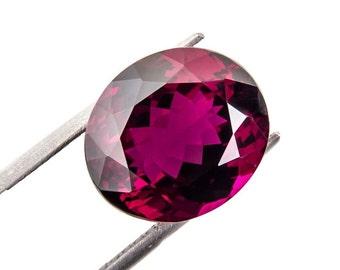 10 Ct Natural Pink Red Rhodolite Garnet Gemstone Oval Flawless Size 13x11x7 mm