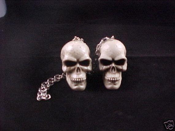 Items Similar To Bone Skeleton Head Rear View Mirror Skull