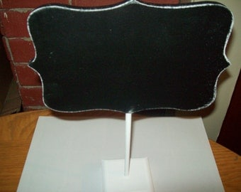 "Large Fancy Chalkboard Sign on Stand Wedding Prop 8"" Wide  5""  Long  Chalk (Includes )"
