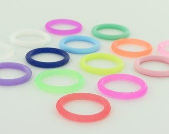 10 O-Rings - Colorful Silicone Dummy / Pacifier Clips Adapters (Choose Color(s)) for Nuk MAM Button Style Pacifiers