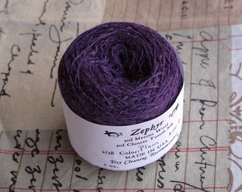 Plum 2/18 Zephyr Wool/Silk Yarn