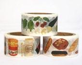 Washi Tape Set - Bakery // Pastry // Ice Cream Tape // Cooking Washi Tape // Vintage Masking Tape // 7m