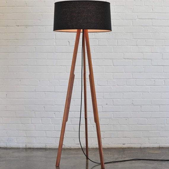 items similar to modern floor lamp black black on etsy. Black Bedroom Furniture Sets. Home Design Ideas