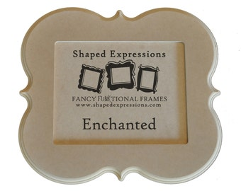 5x7 curvy picture frame - Enchanted unfinished