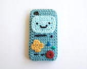 iPhone 4, 5, 6, and 6+ BMO Adventure Time Crocheted Cover / Case