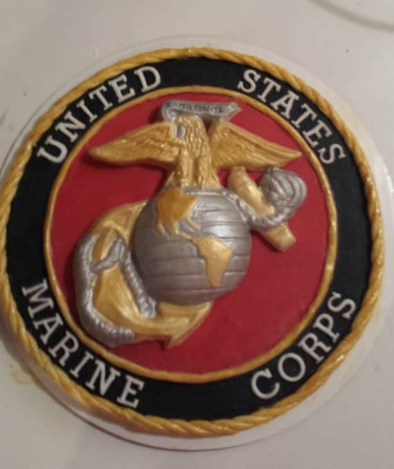 United States Marine Corps Cake Topper