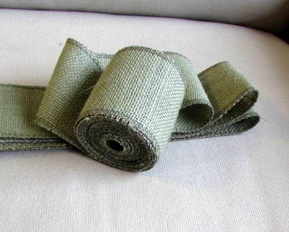 3 green burlap ribbon 5 yard piece from pineconeshoppe for Green burlap ribbon