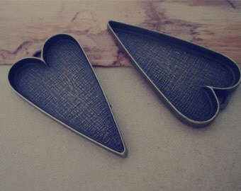 6pcs 28mmx51mm  Antique Bronze Heart Love Cabochon Pendant Base