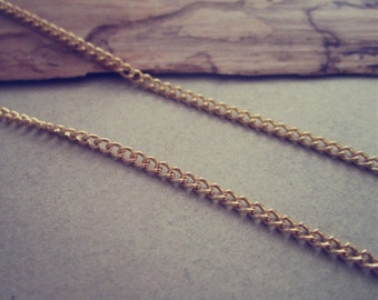 16ft Gold color necklace chain 3mmx4mm