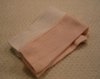 vintage lot of two pair all cotton womens socks . .with long tops . . . .great boot socks