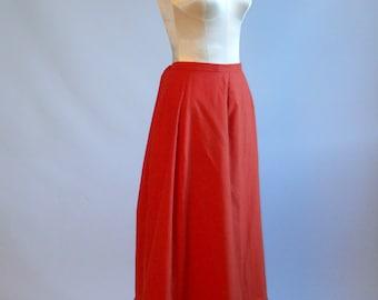 Pumpkin color 1900 skirt / petticoat