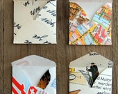 Recycled tiny mini square envelopes switzerland