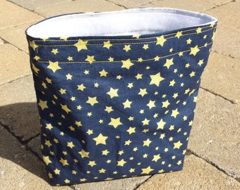 Reusable Snack Sack with Velcro Closure: Starry Sky