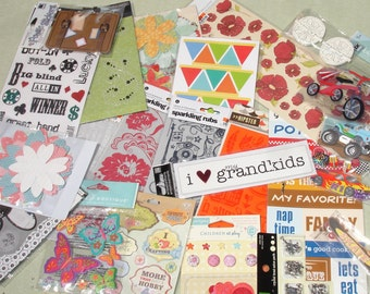 Scrapbooking Embellishment Grab Bag - Destash