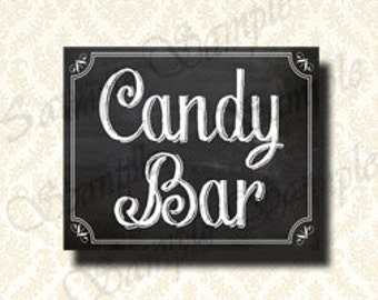 Candy Bar Sign, Do It Yourself Wedding Printable, Chalkboard Candy Buffet Signs, Birthday Party Candy Bar Sign - 184