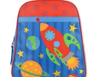 Personalized Stephen Joseph Vinyl Space Backpack, Go Go Bag, Diaper Bag, Toddler Backpack, Overnight Bag with FREE Embroidery