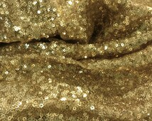 Gold Sequins Seaweed Fabric Table Cloth Decoration
