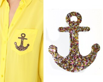 Hotfix Small Anchor Patch Applique for Sewing,Crafts and Embellishments