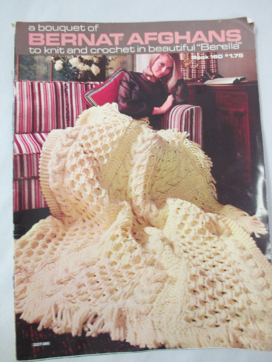 Vintage Afghan Pattern book Crochet and knit patterns Bernat