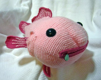 Giant Amigurumi Bean Bag Blobfish - Made to Order