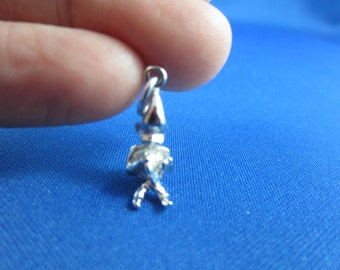 Vintage Fairy Charm, Pixie Sterling Silver Charm - Vintage charm