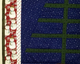 QUILTED CHRISTMAS TREE I call the Charlie Brown Tree is sold with or without ornaments
