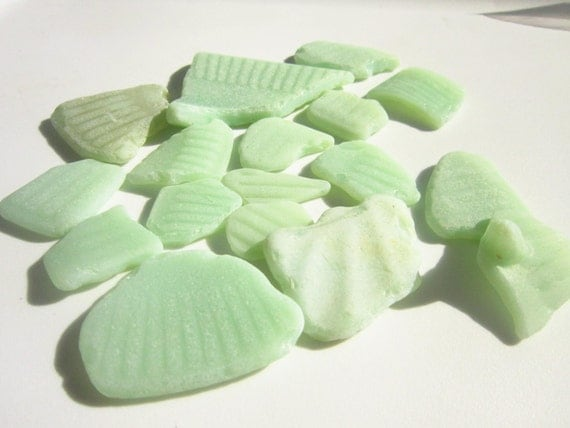 Jadite Pottery Sea Glass Shards AgapiSeaGlass on Etsy