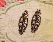 Lily LInks  Set of Two Bronze links
