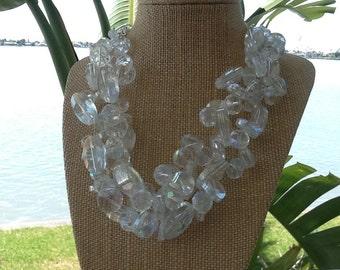 Chunky Crystal, Statement Necklace, Wedding Necklace, Bridesmaids Necklace, Bridal Necklace