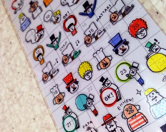 planner stickers.tiny sticker for Filofax,planner, Midori,hobonichi stickers, S14