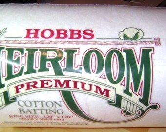 """Hobbs Heirloom Premium 80/20 Cotton Blend Quilt Batting – Crib Size 45"""" x 60"""""""
