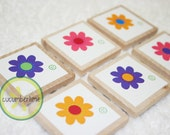 6 Blank Flower Set