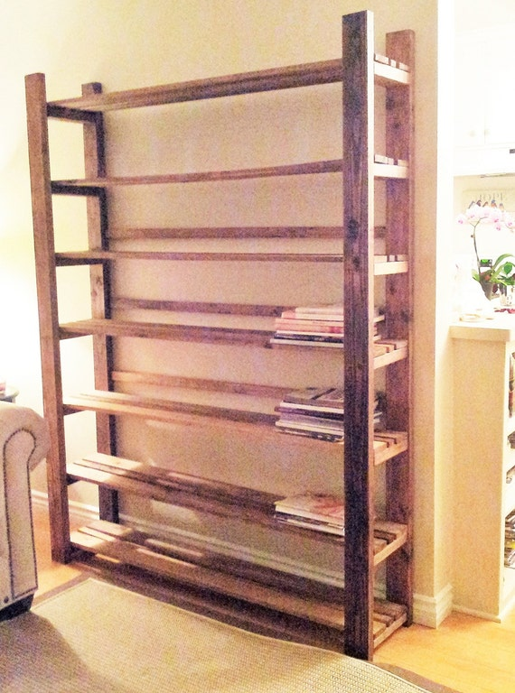Items similar to bookcase rustic reclaimed wood bookcase for Reclaimed wood bookcase diy