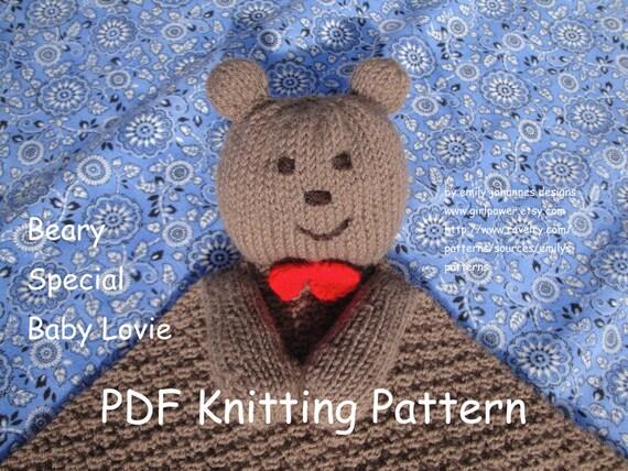 Knit baby lovey pattern