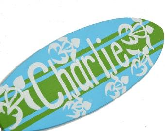 Surfboard Wall Decor, Personalized Beach Sign, Surf Board Wall Art