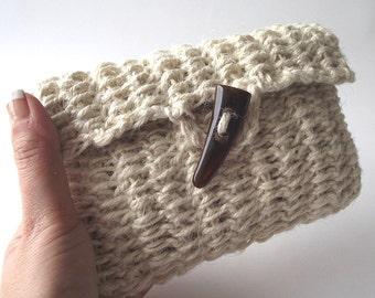 CROCHET PATTERN BAG Carmencita bag Clutch Bag Pouch Crochet Purse Bag pdf pattern Instant Download crochet Purse Bag Summer Bag Jute Pouch