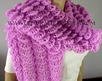KNITTING PATTERN SHAWL Wrap - Bohemia Shawl  Wrap - easy knitting shawl pattern pdf Pattern instant download lace knitting wrap pattern