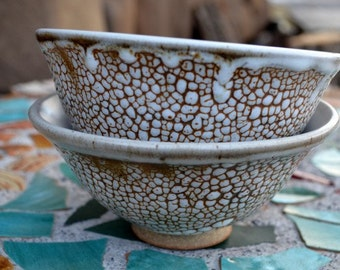 Speckled White Soup Bowl