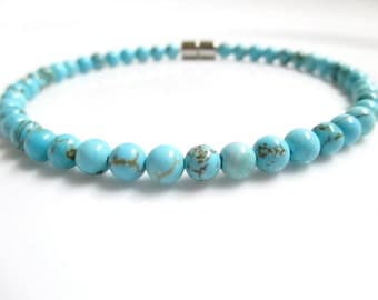 Turquoise Bracelet With A Magnetic Clasp, Gemstone Bracelet, Turquoise Bracelet