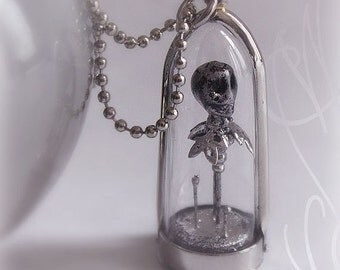"""Handcrafted and fine necklace with gothic touch - """"Fleurs du Mal"""" - Necklace 07"""